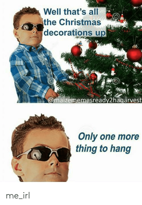 decorations: Well that's all  the Christmas  decorations up  @maizememesready2hagarvest  Only one more  thing to hang me_irl