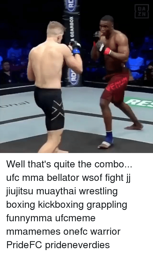 Bellator: Well that's quite the combo... ufc mma bellator wsof fight jj jiujitsu muaythai wrestling boxing kickboxing grappling funnymma ufcmeme mmamemes onefc warrior PrideFC prideneverdies
