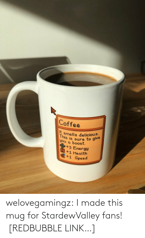 Silver: welovegamingz:  I made this mug for StardewValley fans!  [REDBUBBLE LINK…]