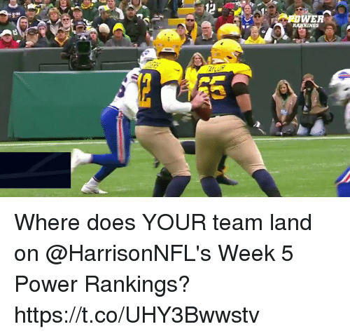 Memes, Power, and 🤖: WER  INGS Where does YOUR team land on @HarrisonNFL's Week 5 Power Rankings? https://t.co/UHY3Bwwstv