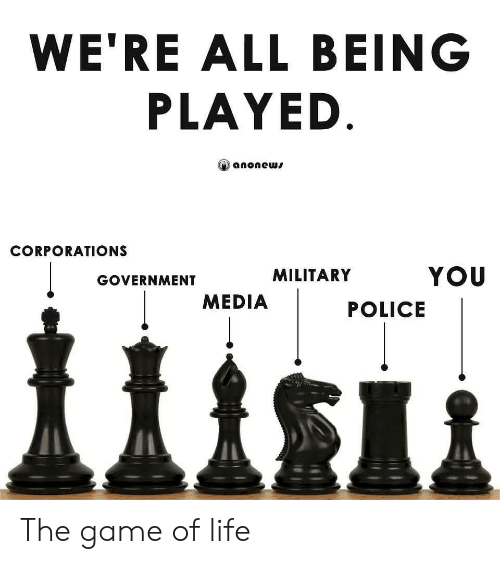 Military: WE'RE ALL BEING  PLAYED  anonews  CORPORATIONS  YOU  MILITARY  GOVERNMENT  MEDIA  POLICE The game of life