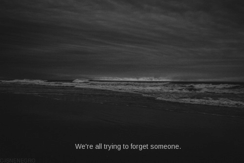 All, Someone, and Were: We're all trying to forget someone