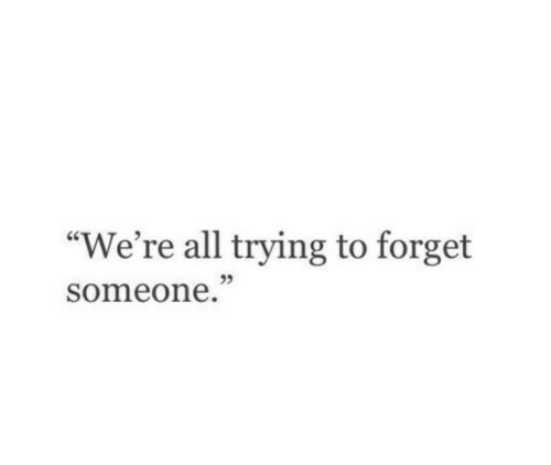 """All, Someone, and Were: """"We're all trying to forget  someone  95"""