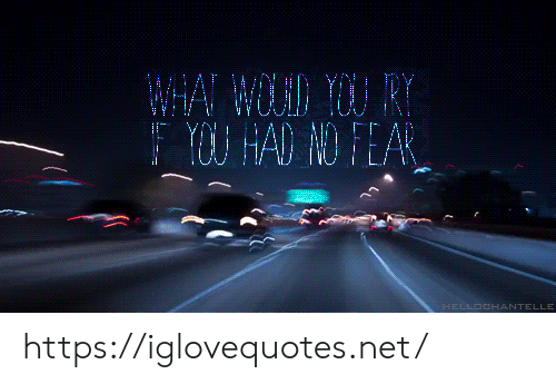 Fear, Net, and You: WHA WLD YOU RY  Y HAD NO FEAR  HELLOCHANTELLE https://iglovequotes.net/