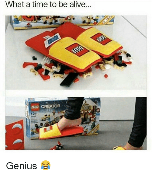 Alive, Lego, and Memes: What a time to be alive  LEGO CREATOR  12+ Genius 😂