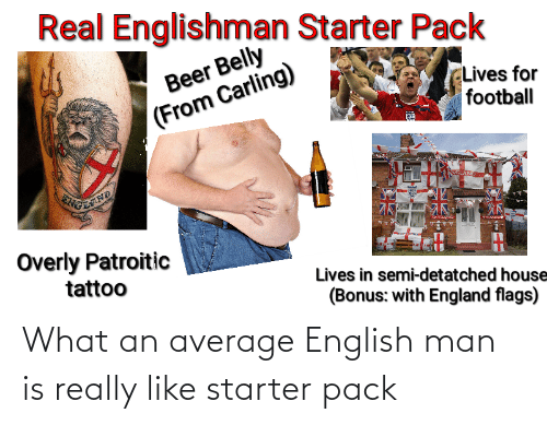 average: What an average English man is really like starter pack