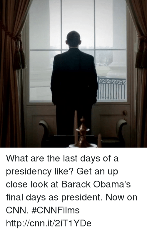 Memes, Barack Obama, and 🤖: What are the last days of a presidency like? Get an up close look at Barack Obama's final days as president. Now on CNN. #CNNFilms http://cnn.it/2iT1YDe
