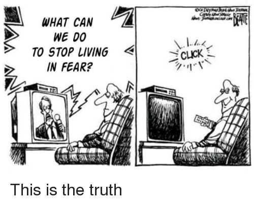 Fear, Living, and Truth: WHAT CAN  WE 00  TO STOP LIVING  IN FEAR? This is the truth