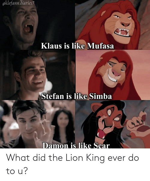 Lion King: What did the Lion King ever do to u?