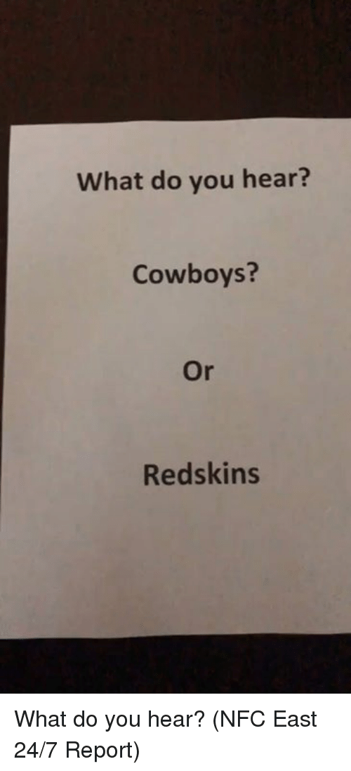 Dallas Cowboys, Nfl, and Washington Redskins: What do you hear?  Cowboys?  Or  Redskins What do you hear? (NFC East 24/7 Report)