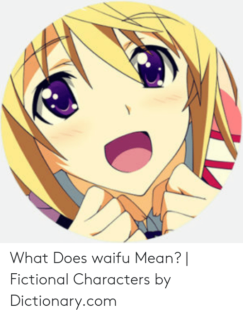 Dictionary, Mean, and What Does: What Does waifu Mean? | Fictional Characters by Dictionary.com