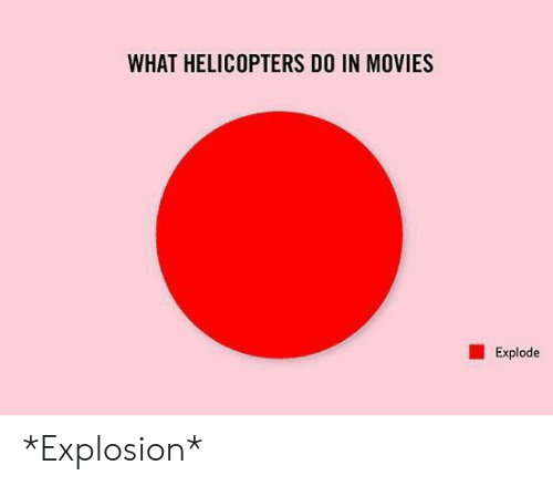 explosion: WHAT HELICOPTERS DO IN MOVIES  Explode *Explosion*