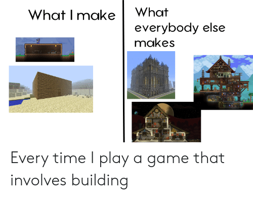 Game, Time, and A Game: What I make What  everybody else  makes Every time I play a game that involves building
