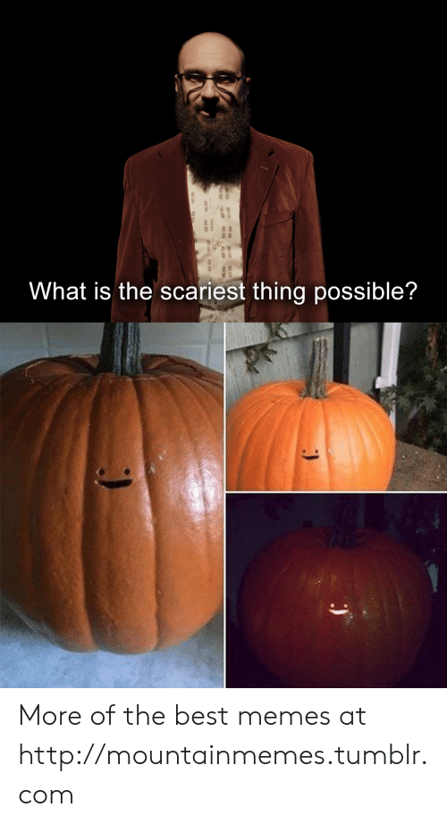 Scariest: What is the scariest thing possible? More of the best memes at http://mountainmemes.tumblr.com