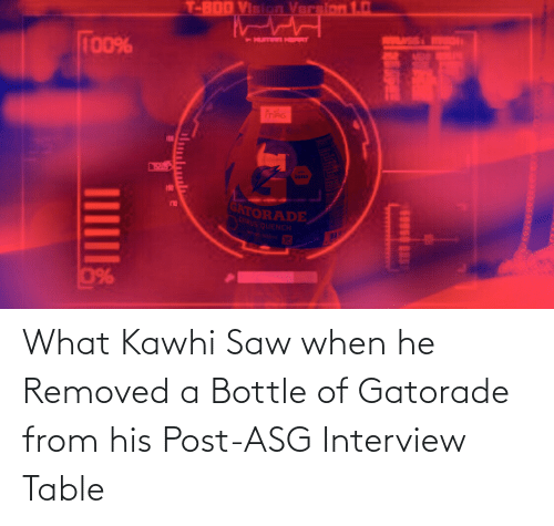 kawhi: What Kawhi Saw when he Removed a Bottle of Gatorade from his Post-ASG Interview Table