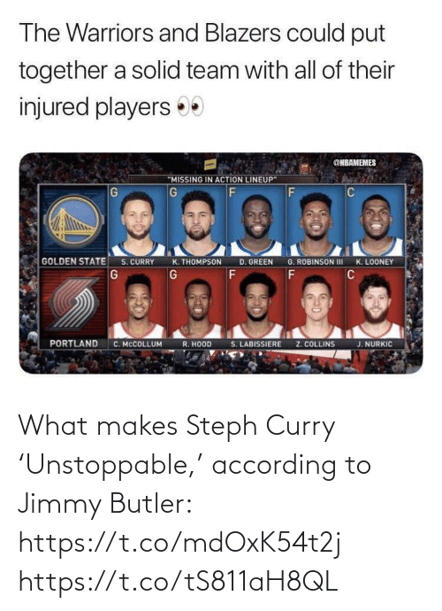 ballmemes.com: What makes Steph Curry 'Unstoppable,' according to Jimmy Butler: https://t.co/mdOxK54t2j https://t.co/tS811aH8QL