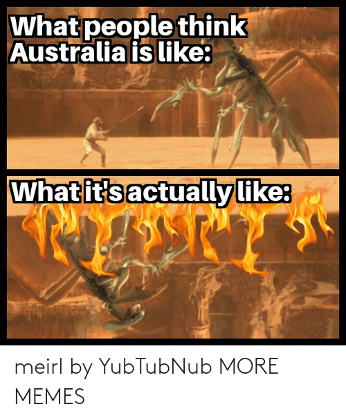 Like What: What people think  Australia is like:  What it's actually like: meirl by YubTubNub MORE MEMES