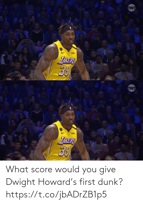 Dunk: What score would you give Dwight Howard's first dunk?  https://t.co/jbADrZB1p5