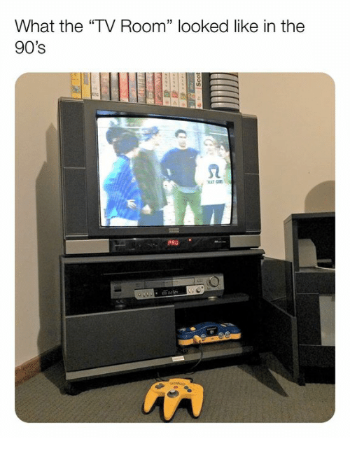 "Memes, 90's, and 🤖: What the ""TV Room"" looked like in the  90's  2  PRU"