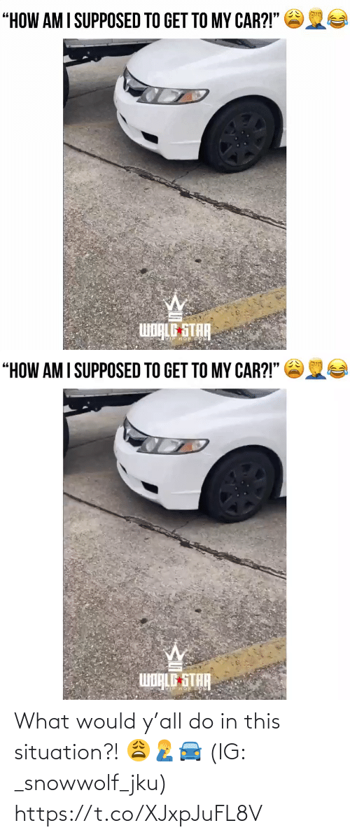 Ÿ˜…: What would y'all do in this situation?! 😩🤦♂️🚘 (IG: _snowwolf_jku) https://t.co/XJxpJuFL8V