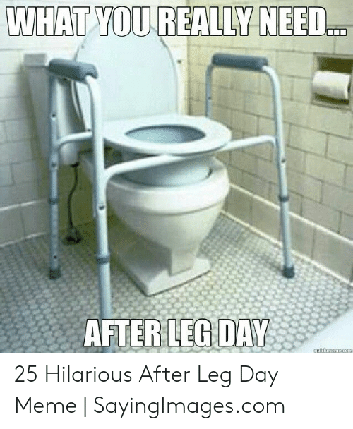 Leg Day Meme: WHAT YOU REALLY NEED.  AFTERLEG DAY 25 Hilarious After Leg Day Meme | SayingImages.com