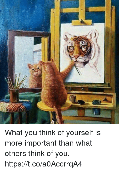 Importanter: What you think of yourself is more important than what others think of you. https://t.co/a0AccrrqA4