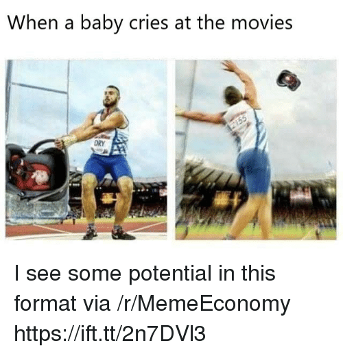 Movies, Baby, and Via: When a baby cries at the movies I see some potential in this format via /r/MemeEconomy https://ift.tt/2n7DVl3