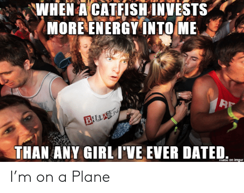 A Catfish: WHEN A CATFISH INVESTS  MORE ENERGY INTO ME  BILLAN  THAN ANY GIRL I'VE EVER DATED  mage on imgur I'm on a Plane