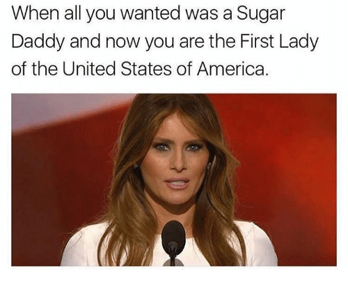 Memes, Sugar, and United: When all you wanted was a Sugar  Daddy and now you are the First Lady  of the United States of America.