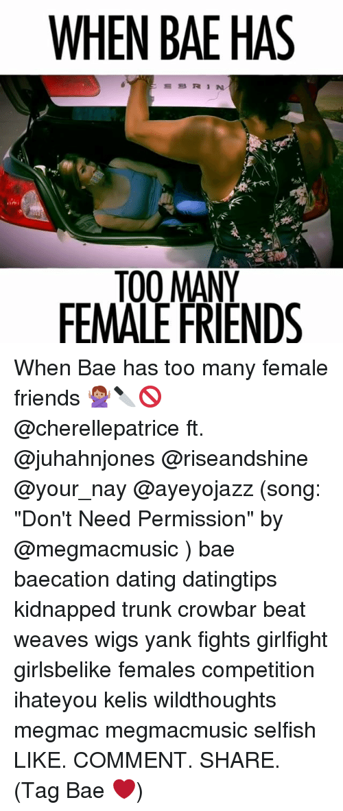 """Trunking: WHEN BAE HAS  ESRIN  TO0 MANY  FEMALE FRIENDS When Bae has too many female friends 🙅🏽🔪🚫 @cherellepatrice ft. @juhahnjones @riseandshine @your_nay @ayeyojazz (song: """"Don't Need Permission"""" by @megmacmusic ) bae baecation dating datingtips kidnapped trunk crowbar beat weaves wigs yank fights girlfight girlsbelike females competition ihateyou kelis wildthoughts megmac megmacmusic selfish LIKE. COMMENT. SHARE. (Tag Bae ❤️)"""