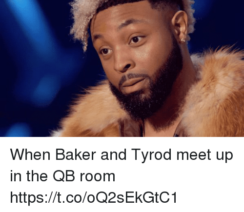 Nfl, Baker, and Room: When Baker and Tyrod meet up in the QB room https://t.co/oQ2sEkGtC1