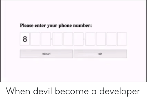 Become: When devil become a developer