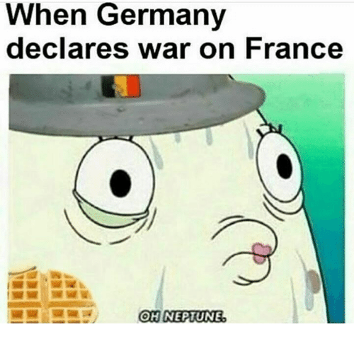 France, Germany, and Polandball: When Germany  declares war on France  OH NEPIUNE