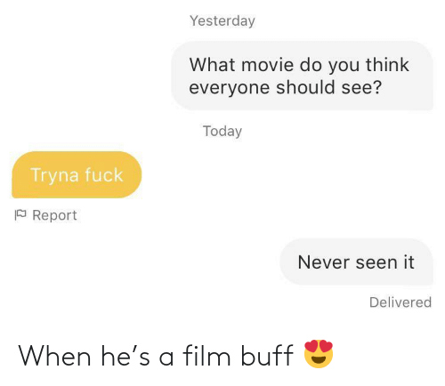 Film: When he's a film buff 😍