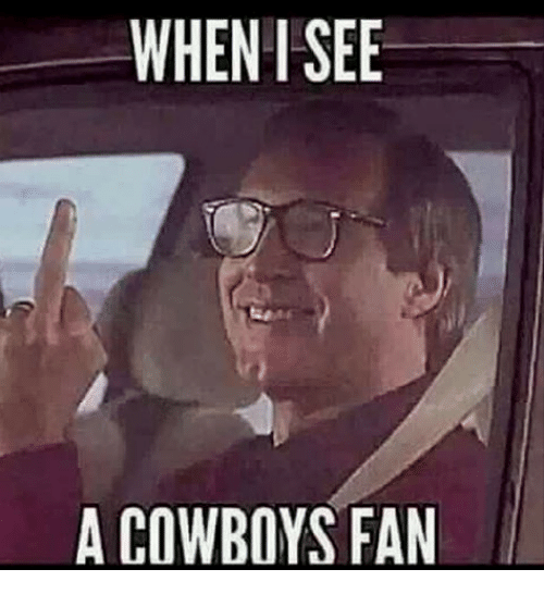 Dallas Cowboys, Memes, and 🤖: WHEN I SEE  A COWBOYS FAN