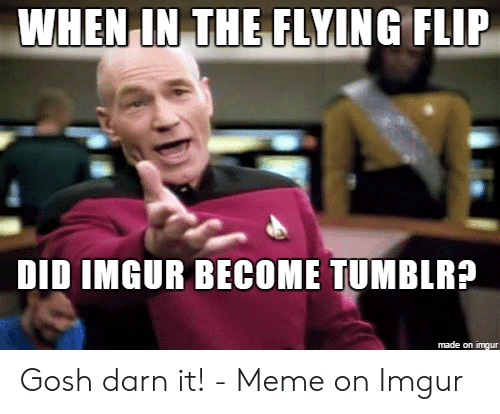 Tumblra: WHEN IN TEFLYİNG FLIP  DID IMGUR BECOME TUMBLRA  made on imgur