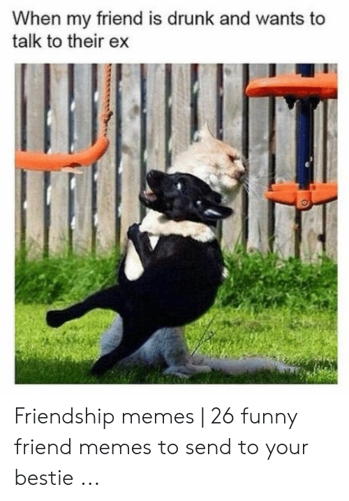 Drunk, Funny, and Memes: When my friend is drunk and wants to  talk to their ex Friendship memes   26 funny friend memes to send to your bestie ...