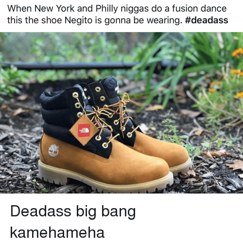 Big Bang Kamehameha: When New York and Philly niggas do a fusion dance  this the shoe Negito is gonna be wearing.
