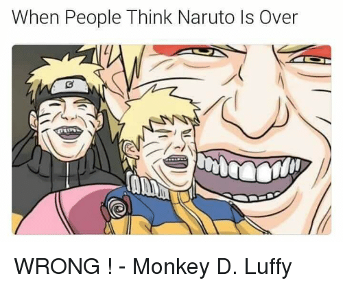 When People Think Naruto Ls Over Wrong Monkey D Luffy
