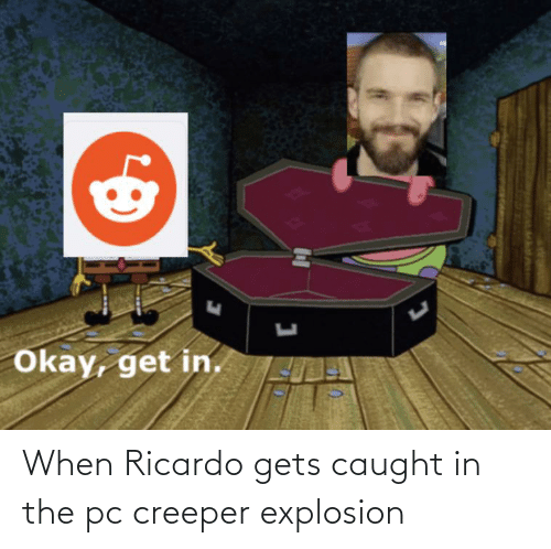 explosion: When Ricardo gets caught in the pc creeper explosion