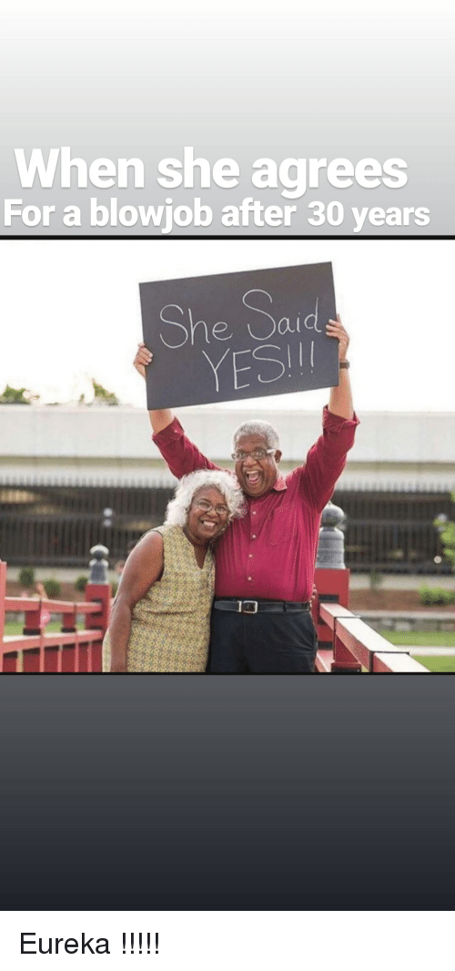 Yesie: When she agrees  For a blowjob after 30 years  She Sad  YESI