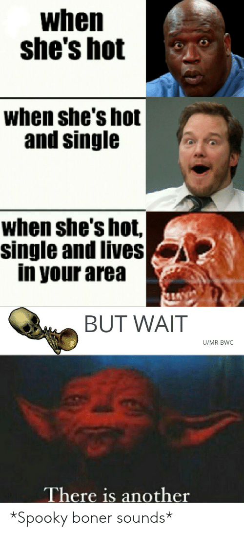 bwc: when  she's hot  when she's hot  and single  when she's hot,  single and lives  in your area  BUT WAIT  U/MR-BWC  There is another *Spooky boner sounds*