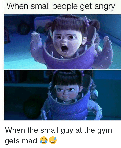 Gym, Angry, and Mad: When small people get angry When the small guy at the gym gets mad 😂😅