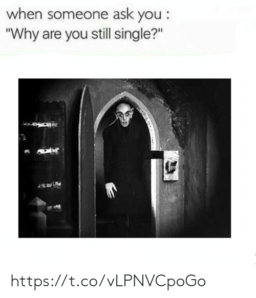 """Still Single: when someone ask you:  """"Why are you still single?"""" https://t.co/vLPNVCpoGo"""