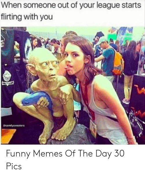 Funny, Memes, and League: When someone out of your league starts  flirting with you  comfysweaters Funny Memes Of The Day 30 Pics