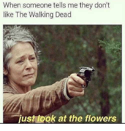The Walking Dead, Flower, and Flowers: When someone tells me they don't  like The Walking Dead  just look at the flowers
