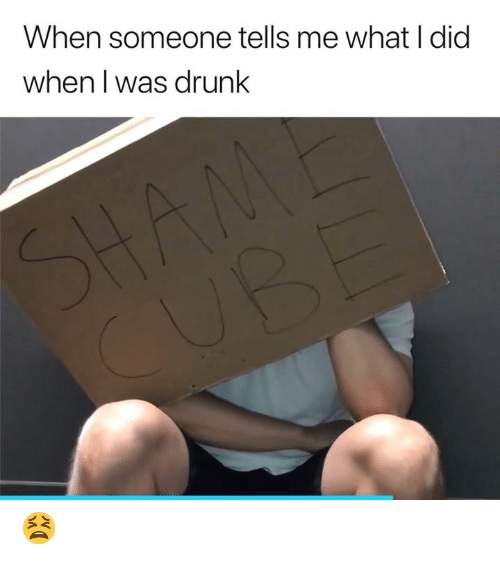 Drunk, Did, and What: When someone tells me what I did  when I was drunk  SHAM  CUB 😫