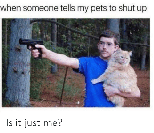 Shut Up: when someone tells my pets to shut up Is it just me?