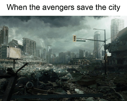 Avengers, The Avengers, and City: When the avengers save the city
