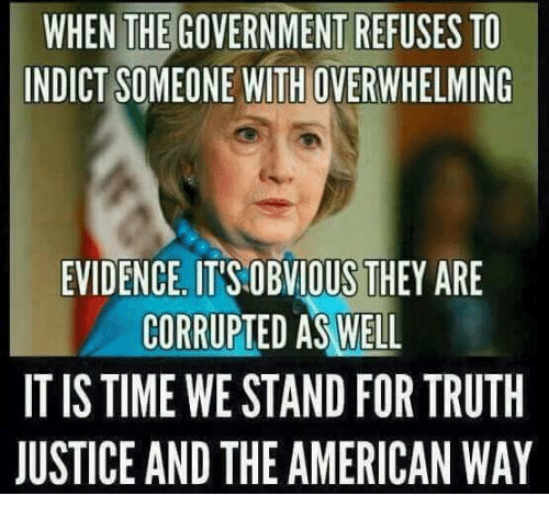 the american way: WHEN THE GOVERNMENT REFUSES TO  INDICT SOMEONE WITHOVERWHELMING  EVIDENCE. ITSOBVIOUS THEY ARE  CORRUPTED AS WELL  IT IS TIME WE STAND FORTRUTH  JUSTICE AND THE AMERICAN WAY